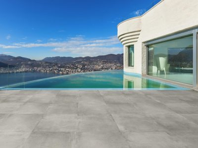 Architecture, beautiful modern house with infinity pool, exterior