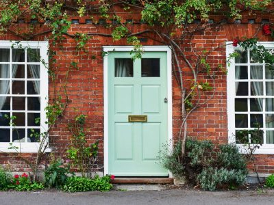 View,Of,A,Beautiful,House,Exterior,And,Front,Door,Seen